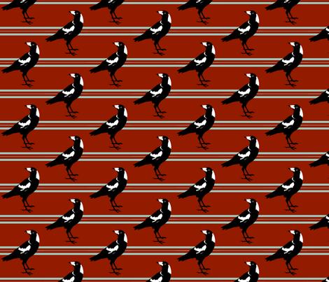 magpie stripe fabric by garmonsway_designs on Spoonflower - custom fabric
