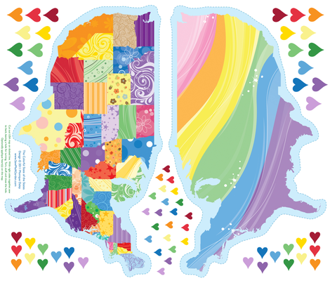 The Colorful State of the States (applique a heart somewhere special) fabric by sew-me-a-garden on Spoonflower - custom fabric