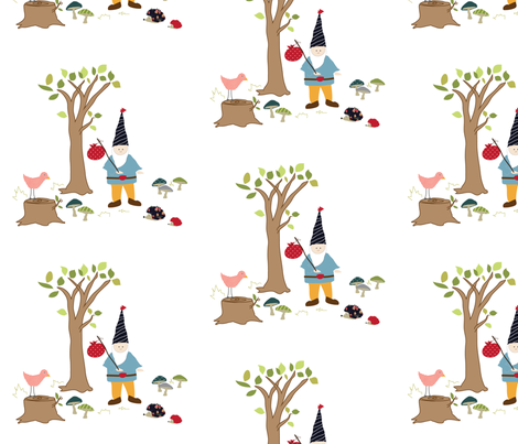 griffin's gnome fabric by armommy on Spoonflower - custom fabric