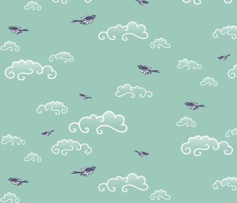 Into the Spoonflower Blue fabric by forest&sea on Spoonflower - custom fabric