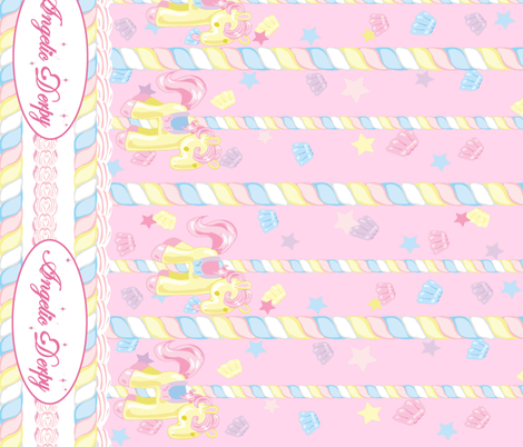 Lovely Horse Derpy-chan: Derpy Carnival Pink fabric by gabi-hime on Spoonflower - custom fabric
