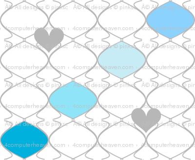 Heartwires Netting - Striped Baubles Blues Aquas  - © PinkSodaPop 4ComputerHeaven.com
