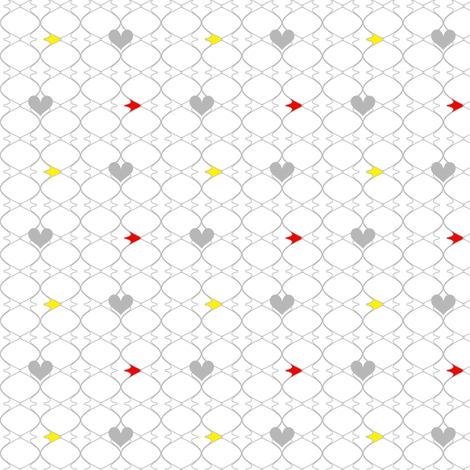 Heartwires Netting - Red Yellow  - © PinkSodaPop 4ComputerHeaven.com fabric by pinksodapop on Spoonflower - custom fabric