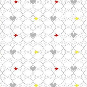 Heartwires Netting - Red Yellow  - © PinkSodaPop 4ComputerHeaven.com