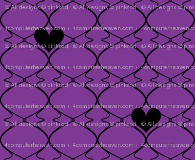 Heartwires Netting - Purple Black  - © PinkSodaPop 4ComputerHeaven.com