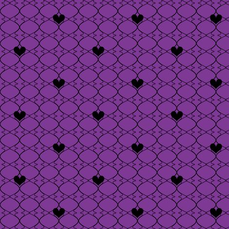 Heartwires Netting - Purple Black  - © PinkSodaPop 4ComputerHeaven.com  fabric by pinksodapop on Spoonflower - custom fabric