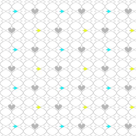 Heartwires Netting - Chartreuse Aqua  - © PinkSodaPop 4ComputerHeaven.com fabric by pinksodapop on Spoonflower - custom fabric
