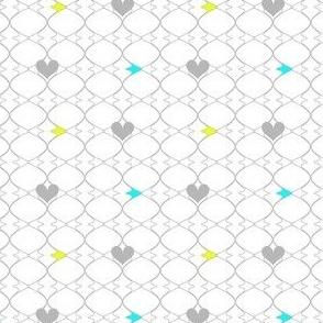Heartwires Netting - Chartreuse Aqua  - © PinkSodaPop 4ComputerHeaven.com