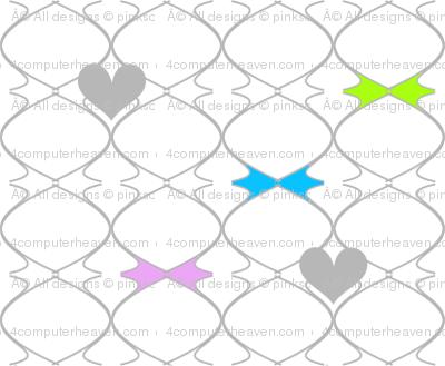 Heartwires Netting - Blue Green Pink  - © PinkSodaPop 4ComputerHeaven.com