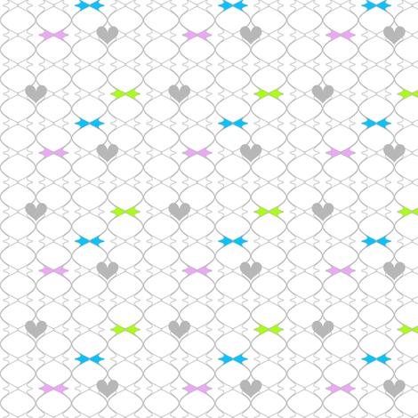 Heartwires Netting - Blue Green Pink  - © PinkSodaPop 4ComputerHeaven.com fabric by pinksodapop on Spoonflower - custom fabric