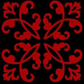 Black & Red Weave