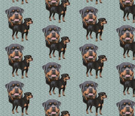 Rottweiler fabric fabric by dogdaze_ on Spoonflower - custom fabric