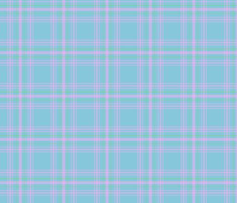 Blue_plaid fabric by anneleukocyte on Spoonflower - custom fabric