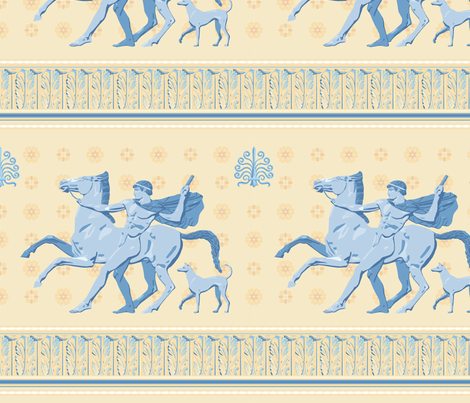 Greek Antiquities 2a fabric by muhlenkott on Spoonflower - custom fabric