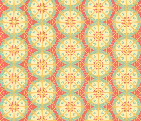 Hawaiian mandala #sage beach fabric by zandloopster on Spoonflower - custom fabric