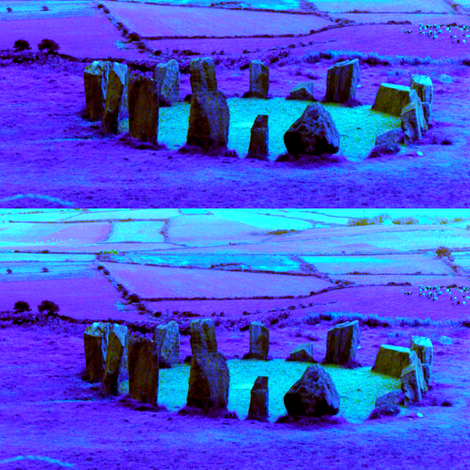 IRELAND: Irish Stone Circles 2 fabric by dovetail_designs on Spoonflower - custom fabric