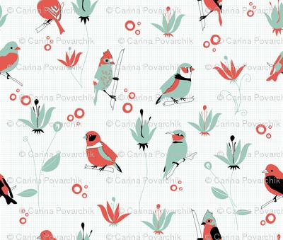 Birds (4 colours)