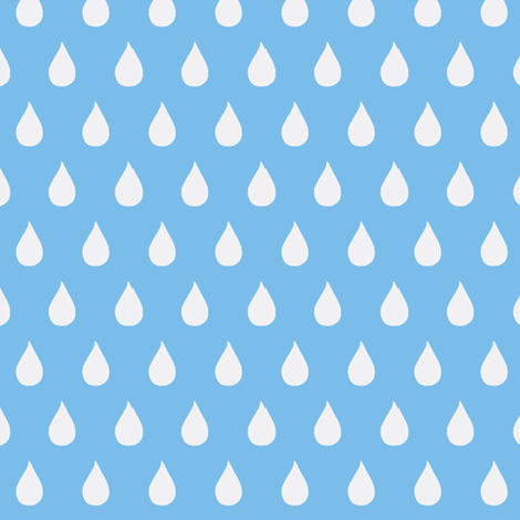 Rainy Days Flip (deep sky) fabric by pattyryboltdesigns on Spoonflower - custom fabric