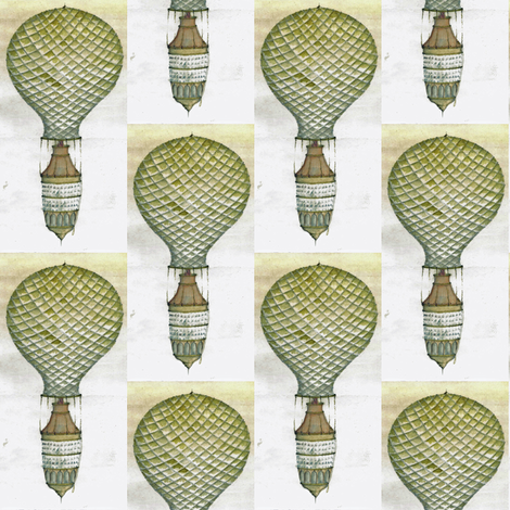 hot air balloon fabric by lizartseattle on Spoonflower - custom fabric