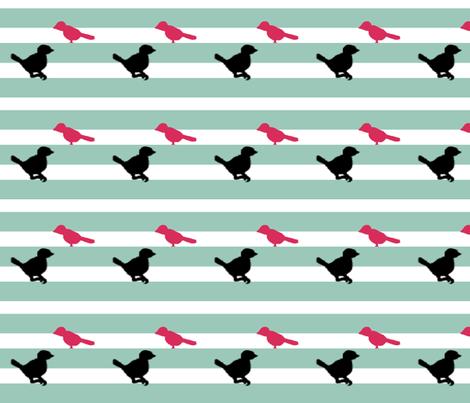 Sassy Bird Stripe fabric by prettyroses on Spoonflower - custom fabric