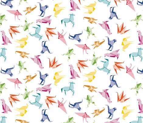 Origami Animals fabric by drizzlydaydesignco on Spoonflower - custom fabric