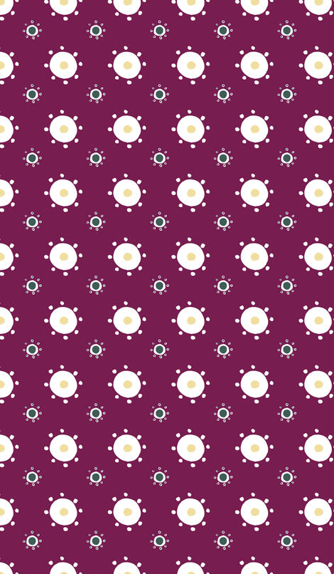 Suns and Polkadots in Plum fabric by prettypenny on Spoonflower - custom fabric