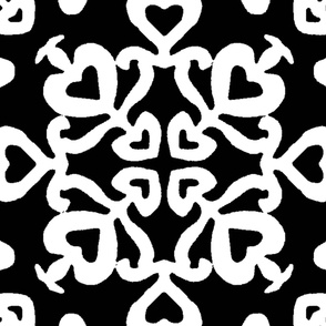 Peacocks lovely black-white tiles