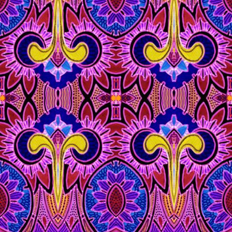 Deco Daffodilly (majestic magenta) fabric by edsel2084 on Spoonflower - custom fabric