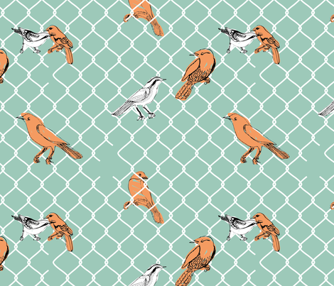 Chickenmesh fabric by loki_and_lamb on Spoonflower - custom fabric