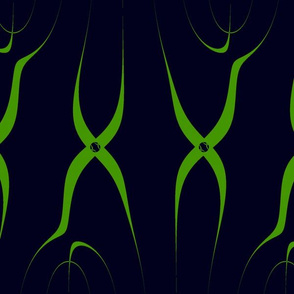 black and green survy line