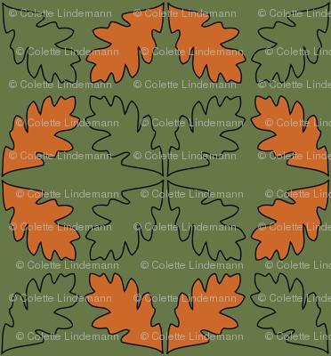 Sage & Pumpkin Oak Leaves