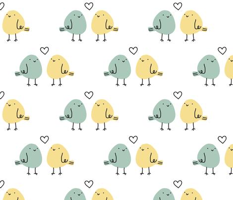 love birds fabric by alison-castaldo on Spoonflower - custom fabric