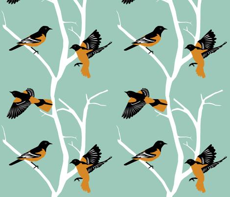 Orioles fabric by kaeledra on Spoonflower - custom fabric