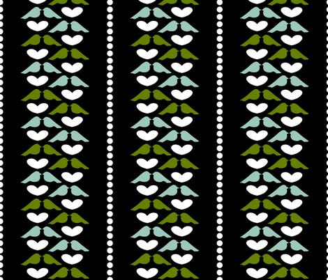 Love Bird Stripe fabric by mayabella on Spoonflower - custom fabric