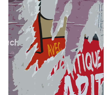 Torn Poster 2, Paris fabric by susaninparis on Spoonflower - custom fabric
