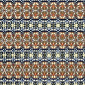 Nouveau Bijou (tan / orange/ blue)