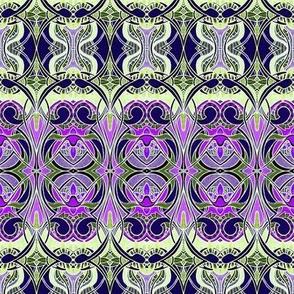 Nouveau Bijou (cream/lavender negative)
