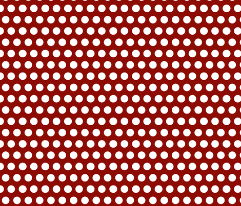 Chirp Red Dots fabric by natitys on Spoonflower - custom fabric