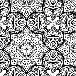 Monochrome Kaleidoscope 4 B (larger scale)