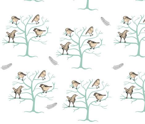 Birds of Britain fabric by missrobinson85 on Spoonflower - custom fabric