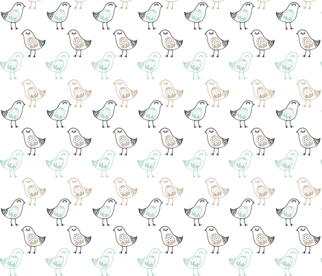 little_birdie_large fabric by rockpaperfabric_design on Spoonflower - custom fabric