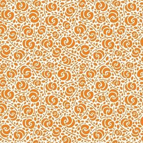 Cut Flowers, Orange on White (small)