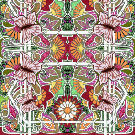 That Butterfly Summer fabric by edsel2084 on Spoonflower - custom fabric