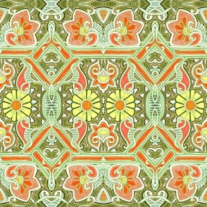 Wallflower Seranade (green/orange)