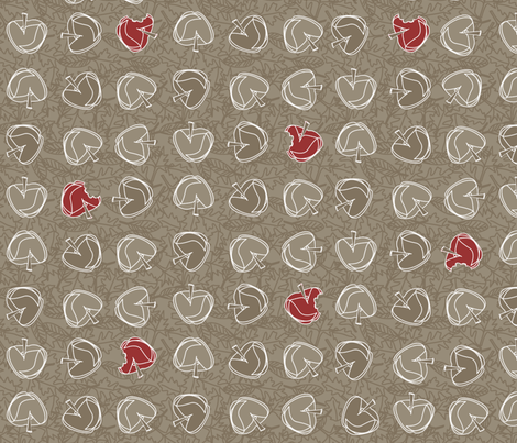 ©2011 fall apples - large fabric by glimmericks on Spoonflower - custom fabric
