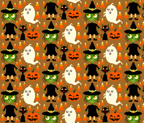 the pixel witch fabric by heidikenney on Spoonflower - custom fabric