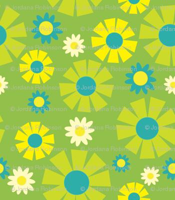 wallpaper flower  (green)