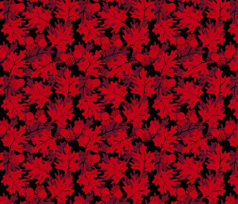 ©2011 Autumn Glory Red fabric by glimmericks on Spoonflower - custom fabric