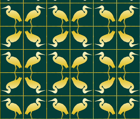 Great Egret 3, S fabric by animotaxis on Spoonflower - custom fabric