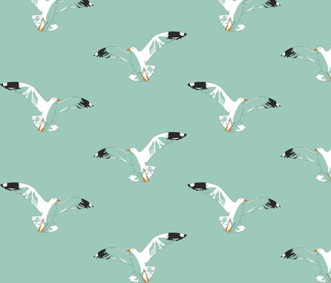 Seagulls fabric by candyjoyce on Spoonflower - custom fabric